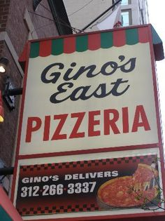 food site in chicago. Tried Lou Malnati's last time. Next time will try Gino's! East Chicago, Chicago City, Chicago Illinois, Chicago Bears, Lou Malnati, Chicago Style Pizza, The Blues Brothers, Chicago Travel, My Kind Of Town
