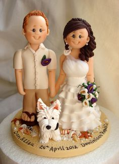 Personalized bride and groom wedding cake topper-Orders for 15th October 2012 onwards