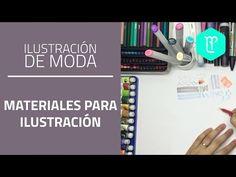 Tipos de papeles para ilustración o dibujo de figurines de moda - YouTube