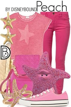 Peach inspired Finding Nemo outfit.  | Disney Fashion | DisneyFashion Outfits | Disney Outfits | Disney Outfits Ideas | Disneybound Outfits |