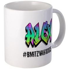 SAMPLE MUG: Custom mug as B'Miztvah favor or gift To custom order, email: MiaMoonMarketing@gmail.com