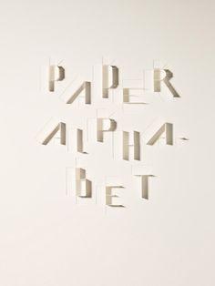 Sculpture Today  Paper Alphabet - Atelier Dyakova