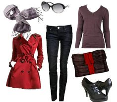 belíssimo!! *.* trench coat vermelho e oxford... adorooo
