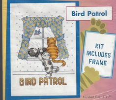 90s Bird Patrol Counted Cross Stitch Kit Complete by CloesCloset