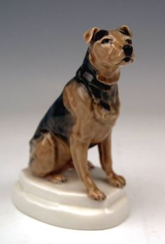 Meissen Lovely Dog Figurine Terrier by Paul Walther image 2