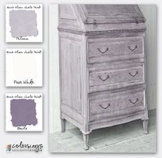 Colorways with Leslie Stocker » Shades of Lavender. Annie Sloan Chalk Paint®. Paloma. Emile. Old White