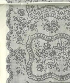 Kira scheme crochet: Scheme crochet no. Filet Crochet Charts, Crochet Doily Patterns, Tunisian Crochet, Crochet Doilies, Crochet Lace, Crochet Stitches, Large Tablecloths, Crochet Tablecloth, Patterns In Nature