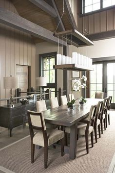 The Cliffs at Mountain Park: Private Residence - eclectic - dining room - charleston - Linda McDougald Design | Postcard from Paris Home