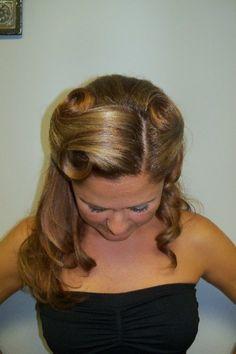 Vintage hair- Laura's wedding?