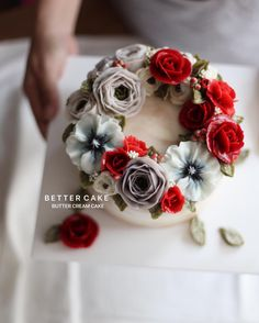 """442 Likes, 5 Comments - 베러케이크/BetterCake 버터크림&앙금플라워케익 (@better_cake_2015) on Instagram: """". . Done by my student from Malaysia - Butter cream cake . . (베러 심화클래스/Advance class) www.better-…"""""""
