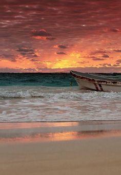 Magnifique coucher de soleil au Mexique