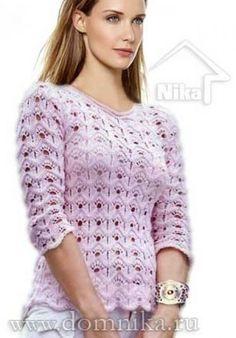 Вязание спицами для женщин Пуловер
