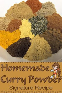 This is my original curry powder recipe. Easy to make & tastes extremely better than the commercial curry powder you buy in the supermarket. Spicy Recipes, Curry Recipes, Indian Food Recipes, Cooking Recipes, Fish Recipes, Cooking Tips, Curry Seasoning, Seasoning Mixes, Homemade Spices
