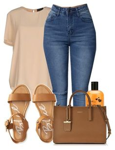 """Lemonade "" by madisonpiper ❤ liked on Polyvore featuring Atos Lombardini, Aéropostale, I Love... and DKNY"