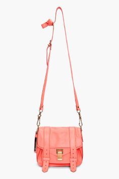 Neon Coral Pouch Bag