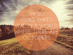 Feeling so positive about autumn!