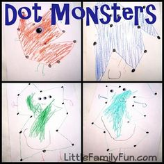 Here's another simple game for your toddlers. All you need to do is to make dot-connecting puzzles of Halloween monsters like witch face, ghost, Pumpkin, etc. Your toddlers can connect the dots and complete those puzzles.
