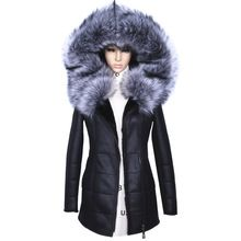 Factory Direct Supplier Winter Jacket Women Coats thick Artificial Fashion Slim Suede Female Models leather Fox Fur Collar h1z1(China)