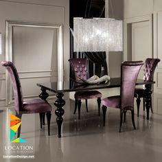 موديلات غرف سفرة كلاسيك ونيو كلاسيك و مودرن باشكال جديدة ومميزة - لوكشين ديزين . نت