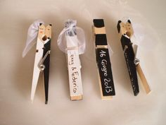 Kissing clothespin wedding couples for the centerpieces at Wedding Crafts, Wedding Favours, Diy Wedding, Wedding Invitations, Wedding Decorations, Wedding Ideas, Wedding Cards Handmade, Clothes Pegs, Diy Birthday