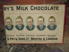 Old Shop Stuff | Old-Showcard-card-Sign-Frys-Milk-Chocolate-Five-Boys for sale (4249)