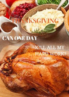 Thanksgiving represents the ultimate test of willpower. The holiday is an eating extravaganza, drenched in gravy, with all signs pointing to death by an over-sized slice of pumpkin pie topped with vanilla bean ice cream. It's a dieter's nightmare, and no one wants to leave the weekend feeling like they might need a forklift to make it into work Monday morning. But…