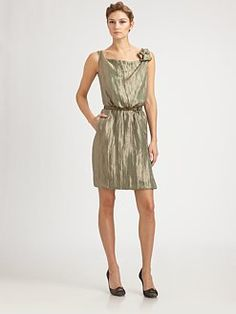 Armani Collezioni Metallic Dress
