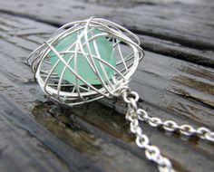 like this cage style pendant for seaglass @Ariel Shatz Shatz Snapp