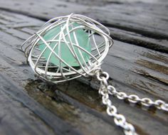 like this cage style pendant for seaglass @Ariel Shatz Shatz Snapp