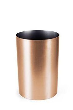 Umbra Metalla 4.5-Gallon Waste Can, Copper