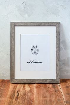 Paw Print Crafts, Paw Print Art, Paw Prints, Framed Prints, Dogs And Puppies, Corgi Puppies, Doggies, Dog Rooms, Idee Diy