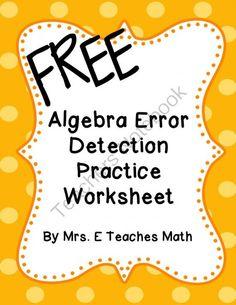 Powers of Quotients Worksheets | Math-Aids.Com | Pinterest ...