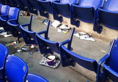 Vikings fans steal seats from the iconic Metrodome Sports Fails, Vikings, Stationary, Gym Equipment, Bike, Fans, The Vikings, Bicycle, Bicycles