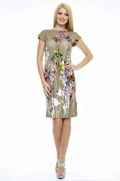 Rochie tricot imprimat rotunda la gat. Summer Dresses, Casual, Fashion, Tricot, Summer Sundresses, Moda, Sundresses, Fashion Styles, Fashion Illustrations