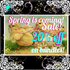 20% OFF BUNDLES OF 3 OR MORE!! SALE!! SALE!!  SALE!! Bundle for savings! Free shipping for items $30 or more! Ask me how!   Other