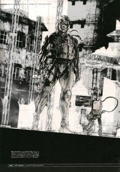 Yoji Shinkawa - The Art of Metal Gear Solid 4 | Madeleine Lilu Emelin
