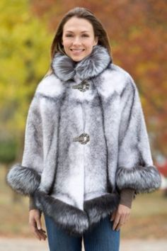 Women's Chanice Mink Fur Cape with Silver Fox Fur Trim By Overland Sheepskin Co, http://www.overland.com/Products/NewNotable-590/HotBrands-1003/OverlandCoats-8405/WomensChaniceMinkFurCapewithSilverFoxFurTrim/PID-17788.aspx