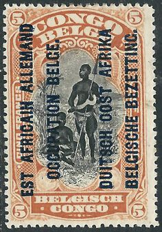 German East Africa Belgian Occupation Issue 5fr 1918