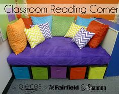Pieces by Polly: DIY Classroom Reading Corner with Cuddle®️️ Fabric and Fairfield World