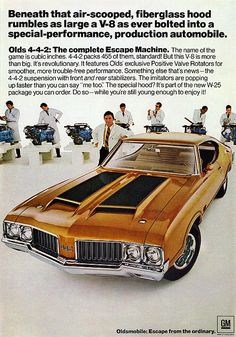1971 Olds 4-4-2 American muscle car