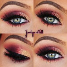 Ombré Sunset Smokey Eye by Jaclyn Hill❤️