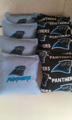 Carolina Panthers Corn hole Cornhole Bags by CornholeWorld on Etsy, $22.99. pin or click on the link to go to my etsy store. Quality cornhole at an affordable price.