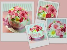 Flowers cake fondant