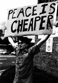 the price of war: peace is cheaper – as for those who think War stimulates the economy...economy of what if you destroy your enemies and they have no means to import your shit for you to profit from?!