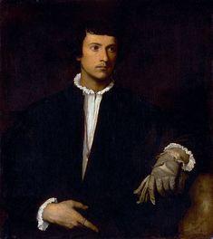 Tiziano Vecellio, dit Titien- L'homme au gant - 1520-1523 - huile sur toile - 100 x 89 cm - Musée du Louvre - Paris