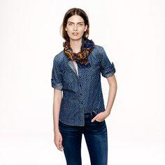 Keeper chambray shirt in star dot - denim & chambray - Women's shirts & tops - J.Crew