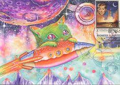 Espace chat carte postale