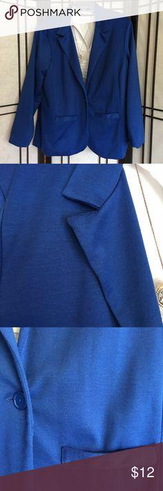 Bright Blue Blazer Cotton like blazer. Reposh 😃 Jackets & Coats Blazers