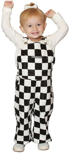 012788bc8 Get game ready in this black and white checkered overall outfit! Cute  Toddlers