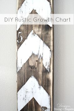 DIY Rustic Growth Chart ~ I love, love, love this idea ♥  I am transposing my information from my daughter's 'paper' growth chart onto the wood.  Great furniture piece to talk about with company!